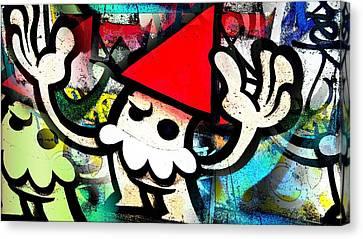 Digital Graffiti Art Kabouter Canvas Print by Marco De Mooy