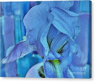 Abstract Digital Canvas Print - Digital Iris by Marsha Heiken