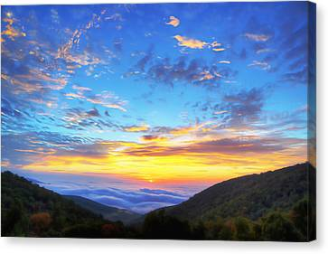Digital Liquid - Good Morning Virginia Canvas Print