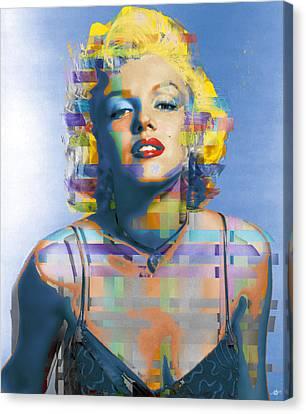 Digital Marilyn Monroe  Canvas Print by Tony Rubino