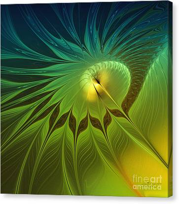 Digital Nature Canvas Print by Jutta Maria Pusl