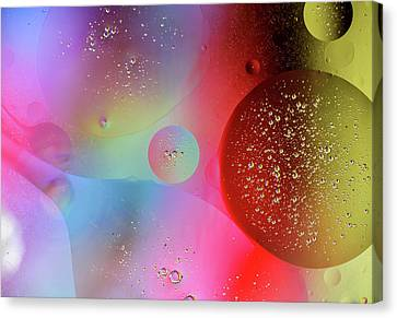 Canvas Print featuring the photograph Digital Oil Drop Abstract by John Williams