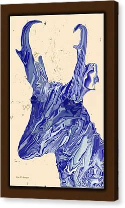 Digital Pronghorn Canvas Print by Kae Cheatham