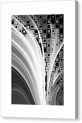 Tron Canvas Print - Digital Revolution Bw by Steve K