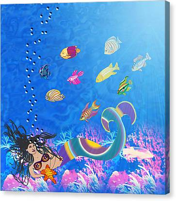 Sirena Canvas Print by Sally Toro