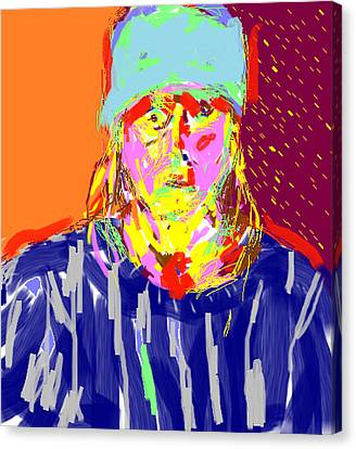 Digital Self Portrait Canvas Print by Anita Dale Livaditis