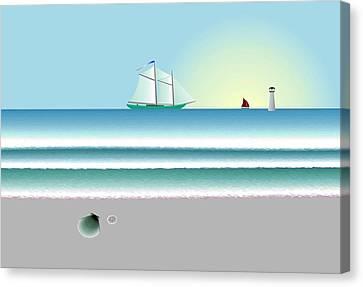 Digital Shoreline 1 Canvas Print by Steve Smyth