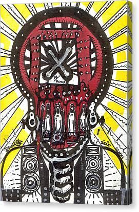 Digital Spit Canvas Print by Robert Wolverton Jr