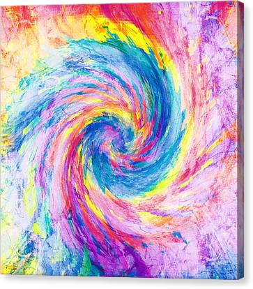 Digital Tie Dyes Canvas Print by Filippo B