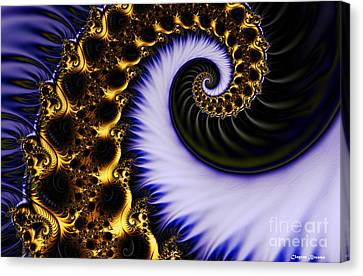 Digital Wave Canvas Print by Clayton Bruster