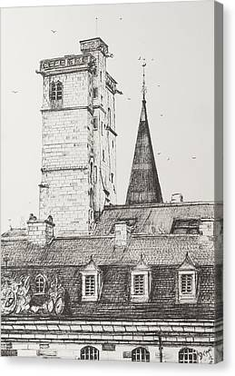Dijon Rooftops Canvas Print by Vincent Alexander Booth