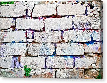 Dilapidated Brick Wall Canvas Print