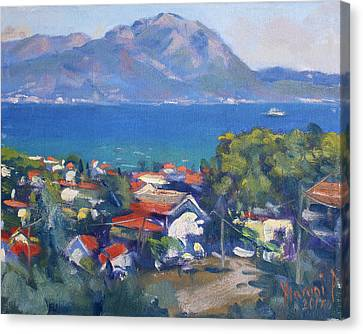 Aegean Canvas Print - Dilesi And Evia Island Greece by Ylli Haruni