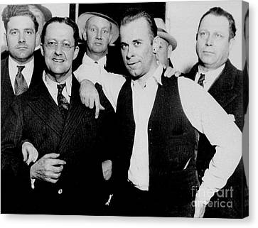 Dillinger And Law Enforcemment Friends Canvas Print