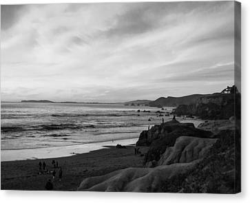 Dillon Beach Sunset Black And White Canvas Print by Sierra Vance