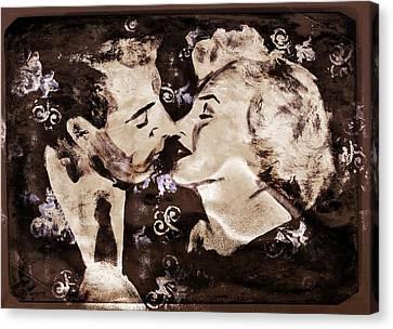 Dimaggio And Monroe Canvas Print