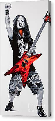 Dimebag Forever Canvas Print by Igor Postash