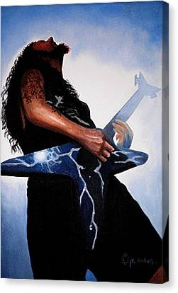 Dimebag Is Gd Electric Canvas Print by Al  Molina