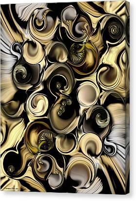 Canvas Print featuring the digital art Dimension Vs Shape by Carmen Fine Art