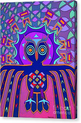 Dimensional Owl Canvas Print by Ed Tajchman
