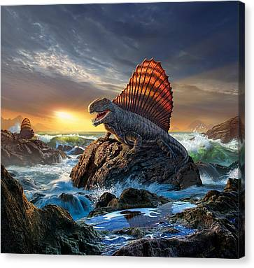 Beam Canvas Print - Dimetrodon by Jerry LoFaro