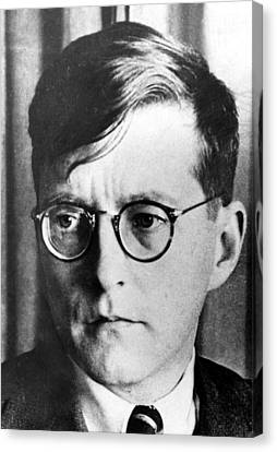 Dimitri Shostakovich,  Russian Composer Canvas Print by Everett