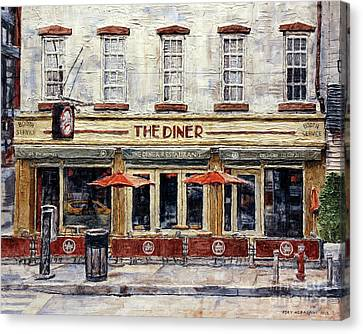 Diner On West 14th Street Canvas Print by Joey Agbayani