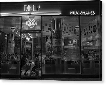 Diner Place Canvas Print