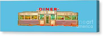 Diner Tee Canvas Print by Edward Fielding