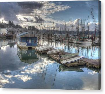 Dinghies For Rent Canvas Print by Thom Zehrfeld