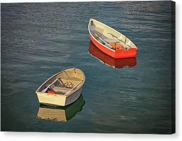 Penobscot Bay Canvas Print - Dinghies by Rick Berk