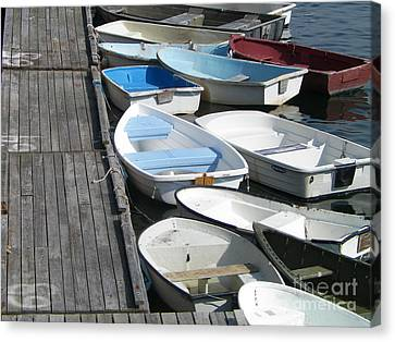 Dinghy Boats Dockside Canvas Print