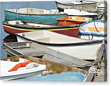 Dinghys At Bearskin Neck Canvas Print