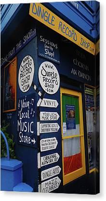 Dingle Record Shop Canvas Print