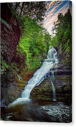Northeastern Canvas Print - Dingmans Falls by Rick Berk