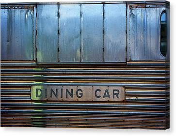 Dining Car Canvas Print by Bud Simpson