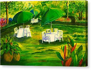 Dining In The Park Canvas Print