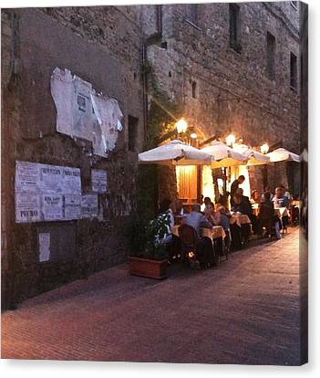 Dining In Tuscany Canvas Print by Carol Sweetwood