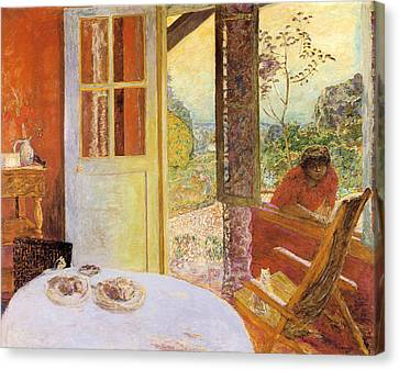 Rocking Chairs Canvas Print - Dining Room In The Country by Pierre Bonnard