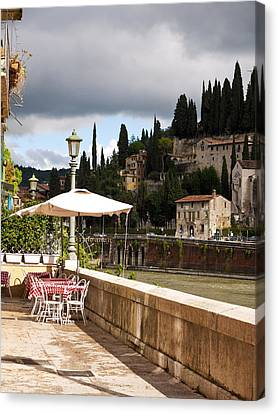 Dining With A View Canvas Print by Rae Tucker