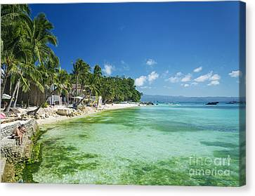 Diniwid Tropical Beach In Boracay Island Philippines Canvas Print