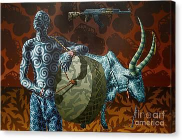 Dinka Boy Canvas Print by Stephen Hall