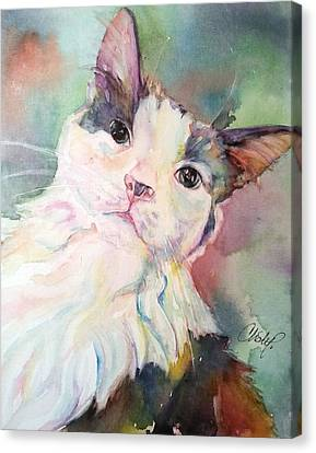 Canvas Print featuring the painting Dinky by Christy Freeman