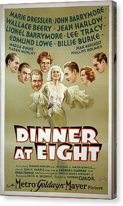 Dinner At Eight 1933 Canvas Print by M G M