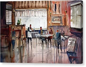 Dinner For Two Canvas Print by Ryan Radke