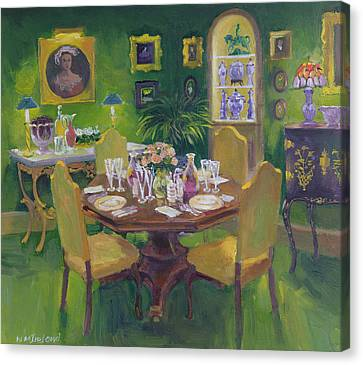 Dinner Party Canvas Print by William Ireland