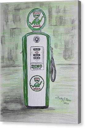 Dino Sinclair Gas Pump Canvas Print