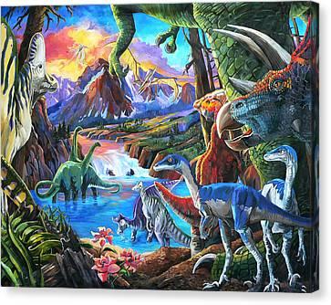 Dinosaur Canvas Print by Nadi Spencer