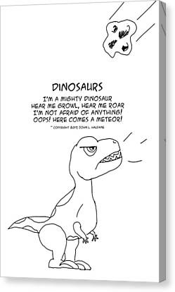 Canvas Print featuring the drawing Dinosaurs by John Haldane