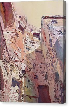 Diocletian Courtyard Canvas Print by Jenny Armitage